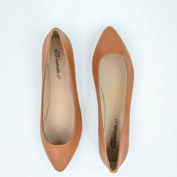 Flirty Flats in Tan