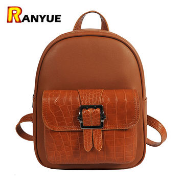 Crocodile PU Leather  Backpack