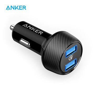 Anker PowerDrive Speed 2 39W Ultra-Compact Car Charger with Quick Charge 3.0 for Samsung Galaxy with PowerIQ for HTC LG iPhone