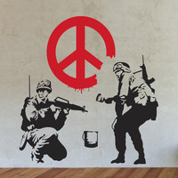 Banksy Militants of Peace Wall Decals