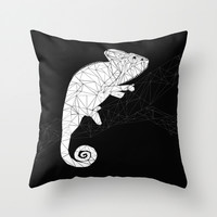 CHAMELEON Throw Pillow by ARCHIGRAF