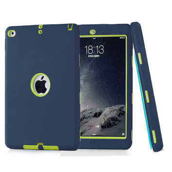 Coque Case for iPad Air 2 Durable Heavy Duty 3 in 1 Hybrid Rugged Case Shockproof Cover Capa for iPad Air 2 iPad 6 Case
