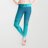 PARADISE Leggings by Chrisb Marquez