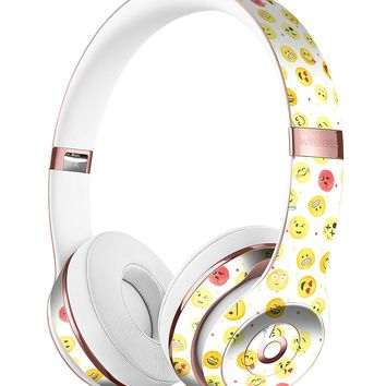 The All Over Emoji Pattern DesignSkinz Full-Body Skin Kit for the Beats by Dre Solo 3 Wireless Headphones / Ultra-Thin / Matte Finished / Protective Skin Wrap