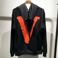 Supreme × vlone Fashion Embroidery Logo Hooded Sport Top Sweater Sweatshirt G-YF-MLBKS