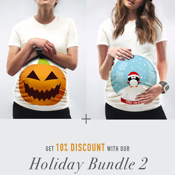 Holiday Bundle 2 / The Pumpkin + The Snow Globe