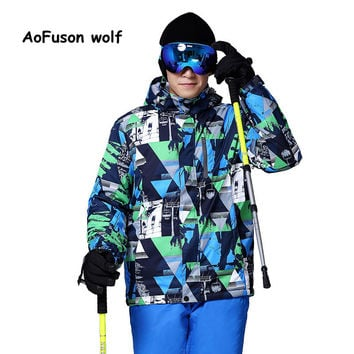 2016 New Brand Ski Jacket Men Waterproof Thermal Winter Snow Jacket