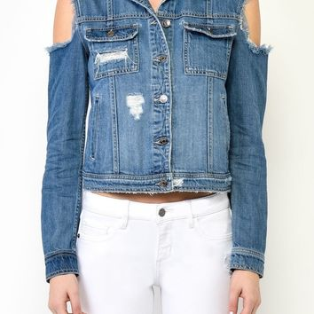 Cutaway Denim Jacket by Hidden Jeans