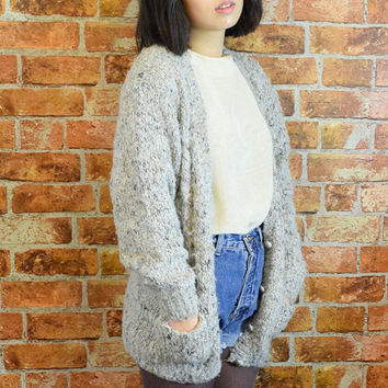10% OFF and 10 Precent to the Charity Vintage 90s Grey Sweater Cardigan