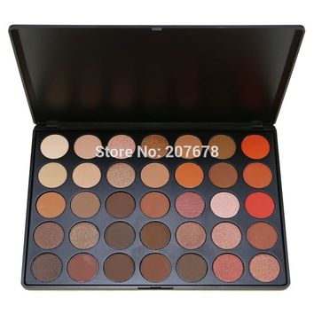 35 Color Eyeshadow Pallete Silky loose Powder Professional Nature Shimmer Make up Palette Smoky Warm Matte Shining EyeShadow 35O