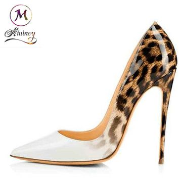 Women Fashion Shoes High Heels Sexy Pumps Leopard Stiletto Heel Shoes