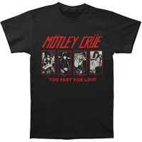 Motley Crue Men's  '81 Group Photos Slim Fit T-shirt Black