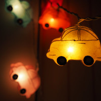 SALE Super Cute car volkswagen Fairy String Light - 20 car Lights Fairy lights Party Decor Wedding Garden Spa and Holiday Lighting
