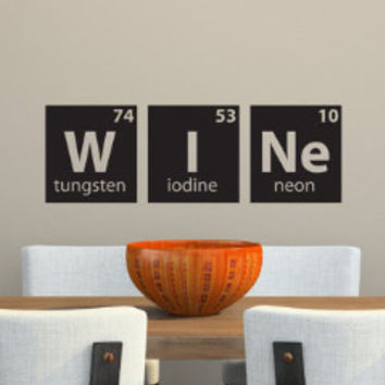 Wine Periodic Table Wall Decal