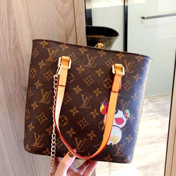 Free shipping-LV vintage old flower female handbag shoulder bag messenger bag