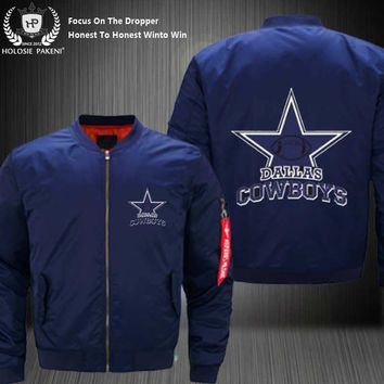 Dropshipping USA Size Unisex MA-1 Jacket Football Team Dallas Cowboys Flight Jacket Custom Design Printed Bomber Jacket made Men