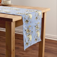Elegant Chic Whimsical Enchanting Exotic Sepia Short Table Runner