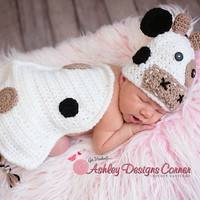Cow Baby Cape Set Newborn Prop
