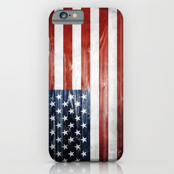American flag iPhone & iPod Case by Nicklas Gustafsson