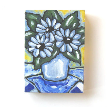 Daisies Still life Painting Original Acrylic on canvas