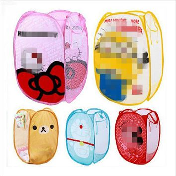 Minions Hello Kitty monkey Folding Dirty Clothing Laundry Storage Basket Children's To