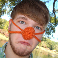 Orange you glad your nose is Warm - Nose Warmer,  Man or Woman, Teen, Nose Cozy, Crocheted, Outdoor Lover, Nose Mitten