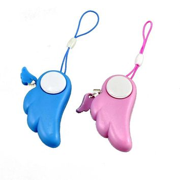 Free Shipping Self Defense Angel Alarm Girl Women Security Protect Alert Personal Safety Scream Loud Keychain Alarm