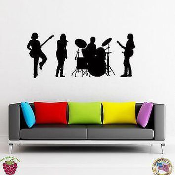 Vinyl Decal Wall Stickers Music Band Jazz Rock Pop Music Unique Gift (z1626)