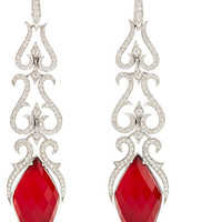 Stephen Webster - La Belle Epoque 18-karat white gold multi-stone earrings