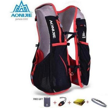 DCCKFV3 AONIJIE 5L Women Men Marathon Hydration Vest Pack For 1.5L Water Bag Cycling Hiking Bag Outdoor Sport Running Backpack