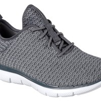 Skechers Charcoal Flex Appeal 2.0 - Bold Move Shoes