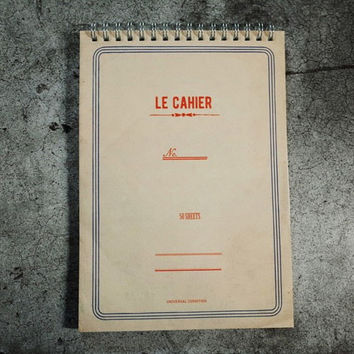 Le cahier light A5 size spiral lined notebook