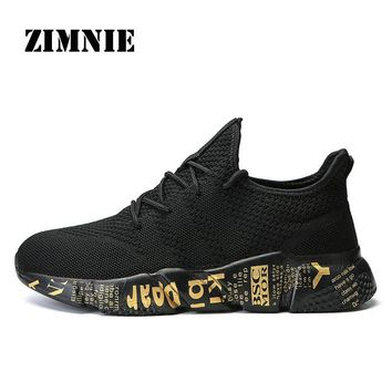 ZIMNIE Limited Edition Men Running Shoes High Quality Sport Gym Training Sneakers Breathable Anti-skid Outsole Walking Shoes
