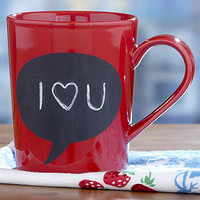 Chalk Talk Mug, Set of 4 | Coffee and Tea Accessories| Kitchen & Dining | World Market