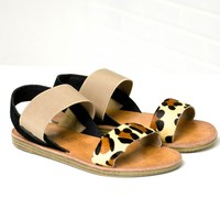Leopard Print Slip On Sandals