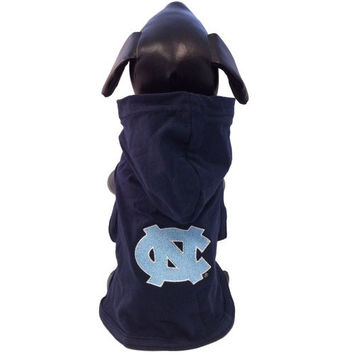 NCAA North Carolina Tar Heels Collegiate Cotton Lycra Hooded Dog Shirt (Team Color, XX-Small)