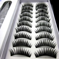 30pair/lot Thick Long False Eyelashes Extensions Eye Lashes Voluminous Makeup Fake Lashes For Building Fake Eyelashes Wimpers