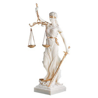 Design Toscano Bonded Marble Themis Blind Justice Figurine