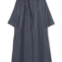 Tailored Duster Coat by Boutique - Sea Blue