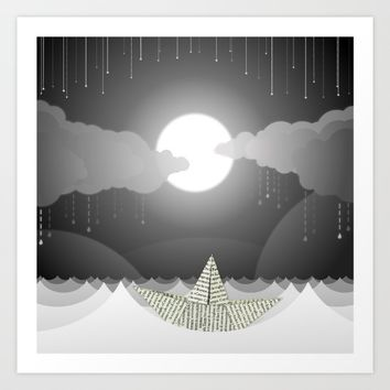 Dream Sea Art Print by Dood_L