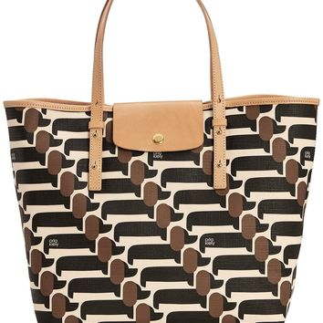 Orla Kiely Textured Vinyl Dog Show Print Tilly Bag,Truffle,One Size