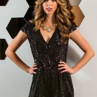 Marissa Black Sequin Romper