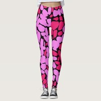pink pattern leggings