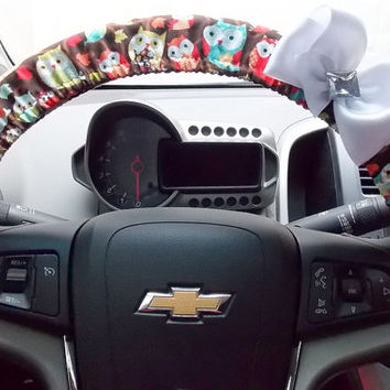 Steering Wheel Cover Car Accessories Owl Bow Bling