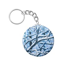 Christmas time forest keychain