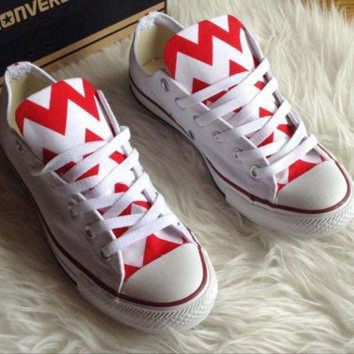 CREYUG7 ANY COLOR Chevron Converse Shoes