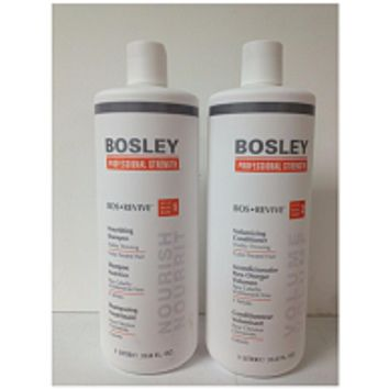 Bosley Bos Revive Shampoo & Conditioner for Color Treated Hair 33.8 oz Duo