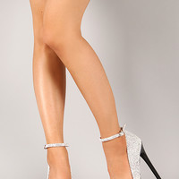Qupid Ravish-16 Stingray Two Tone Platform Pump