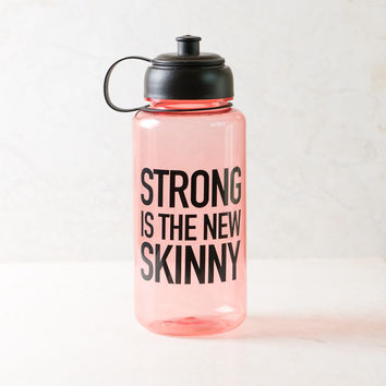 Strong Is The New Skinny Pink Sports Water Bottle