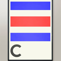 Navy Signal Poster, Letter C, Nautical Flags, Naval Signal, Nautical Art, Nautical Sign, Navy Sign, Naval Flag, Maritime Flag, Beach Art